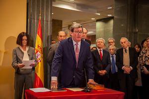 Una imagen del acto de toma de posesión del cargo de Juan Manuel Bonet.