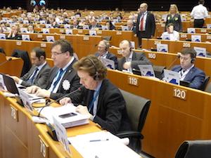 El director xeral Jesús Gamallo durante su exposición del texto en el pleno del Comité de las Regiones.