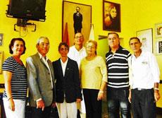 Directivos de la Asociación Canaria de Cuba en Villa Clara con el presidente Paulino Paz Pérez. (2° por la izquierda).