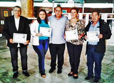 Felipe Cid, Sonia Guerra, Julio Gallo, Juana Caridad Fernández y Óscar Benítez Pérez.