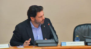 Antonio Rodríguez Miranda en el Parlamento de Galicia.