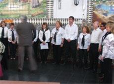 Actuación del coro.