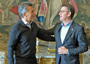 Mauricio Macri y Alberto Núñez Feijóo.