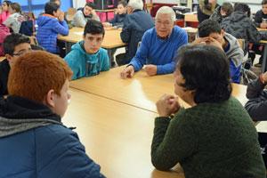 Un momento del encuentro celebrado en el IES Francisco Aguiar de Betanzos.