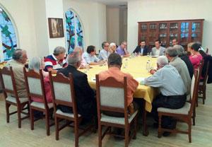 Reunión con los directivos de las asociaciones gallegas.