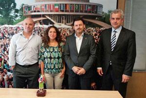 Varela, Malewicz, Miranda y López Dobarro acordaron la realización de la próxima edición del 'Buenos Aires celebra Galicia' para el 7 de octubre.