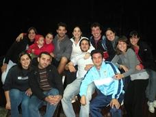 El grupo de jóvenes del Valle Miñor que recorrerá el Camino de Santiago.
