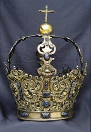 Corona imperial (Perú, 1672), conservada en La Palma.