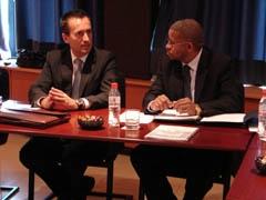 Ruano, con el ministro de caboverdiano.