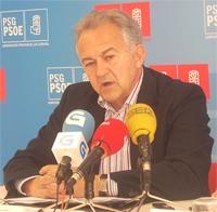 El portavoz del PSdeG en el Parlamento gallego, José Luis Méndez Romeu.