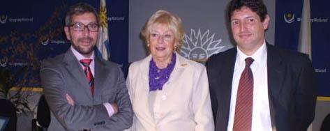 José Manuel Ramírez, Rosita Lladó y Diego Sastre.