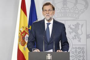 Mariano Rajoy, en su comparecencia.