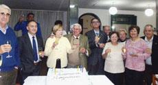 Brindis por el 99 aniversario de la Unión Hijos de Morgadanes.