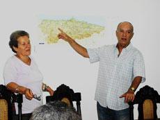 Emilia Cartategui y José Rodríguez en un momento de la presentación.