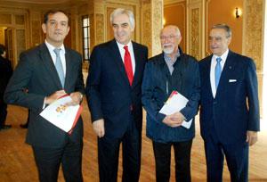 David Izquierdo, Javier Sandomingo Núñez, José Luis Mira Lema y Pedro Bello.