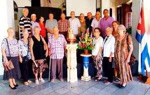 Emigrantes asturianos que participaron en la celebración del Día de Asturias en la FAAC.