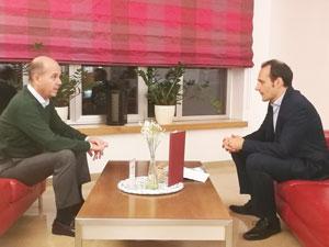 Ramón Moreno y el presidente del PP en Austria, Javier Romero.