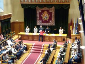 Un momento del acto de recepción de los estudiantes extranjeros.