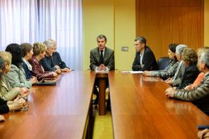 José Manuel Herrero con los participantes en el programa 'Siente Castilla y León'.