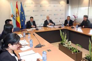 Reunión de Conde con representantes de la Cámara de Comercio de China.