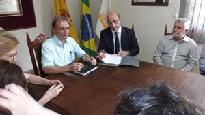El consejero de Empleo y Seguridad Social de España en Brasil, José Eduardo Sánchez Campos disfrutó de la visita.
