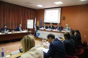 Imagen de la reunión del Consello de Acción Exterior que presidió Alfonso Rueda.