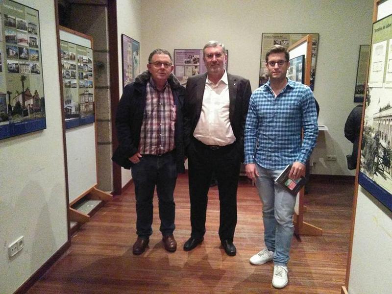 X. Amancio Liñares Giraut, Vicente Peña Saavedra y César Ramos.