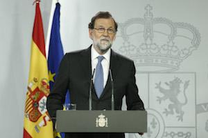 Comparecencia de Mariano Rajoy en la que explicó las medidas del Gobierno.