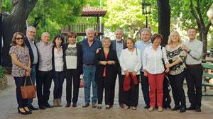 Con autoridades del Centro Asturiano de Buenos Aires.