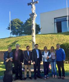 Antonio Rodríguez Miranda con directivos del Centro Gallego de Valparaíso.