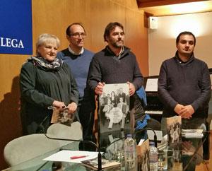 María Xosé Porteiro, Anxo Lorenzo, Ramón Pinheiro y Jesús Blanco, en la presentación del libro.