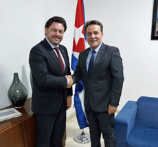 Antonio Rodríguez Miranda con Con Gustavo Machín.