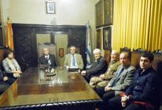 El joven Ignacio en su primera reunión de directiva del Club Español.