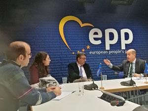 Visita a la sede del Partido Popular Europeo.