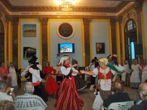 Grupo de baile canario.