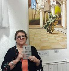 Silvia Virginia Poulage logró el primer premio con el cuadro denominado 'Baldosas de piedra'.