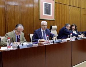 Comparecencia de Manuel Jiménez Barrios en el Parlamento andaluz.