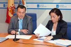 Henández y Vázquez en la presentación del Plan Auga.