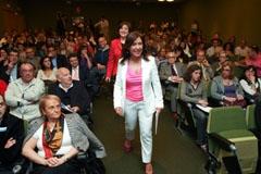 Beatriz Mato durante la presentación de la futura ley de familia.