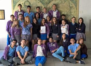 Los alumnos de 5º de Bachillerato que ejercieron de jurado.