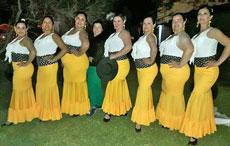 Representación española en la fiesta.