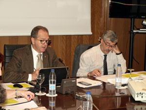 Eduardo Dizy e Ildefonso de la Campa en un momento de la reunión.