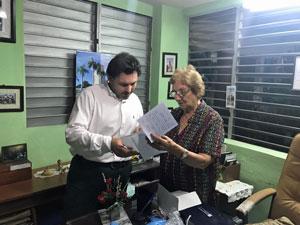 Antonio Rodríguez Miranda y Josefina Castro en Santiago de Cuba.