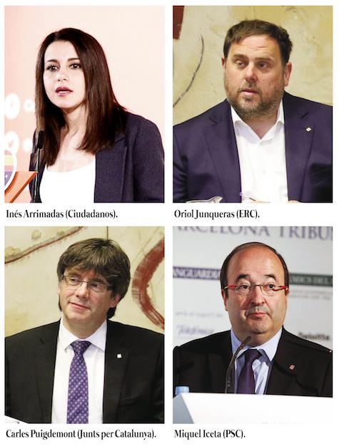 Los candidatos con mejores resultados según la encuesta del CIS.