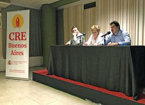 José M Vila Alén, la consejera del CRE María de los Ángeles Ruisánchez y Juan Manuel de Hoz.