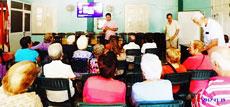 Directivos del Club Villarino de La Habana durante la presentación de la actividad.
