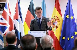El presidente de la Xunta de Galicia durante su intervención.