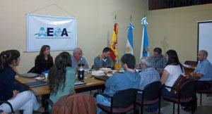 Curso de formación para jóvenes en la sede de AEGA.