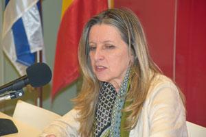La actual presidenta de AEGU, Elvira Domínguez.
