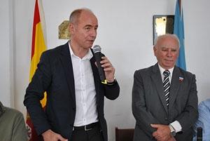 Intervención del secretario xeral en el Centro Vila de Cruces.